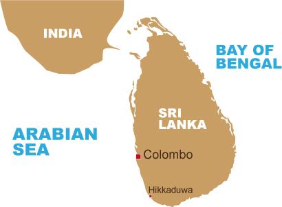 Karte von Sri Lanka